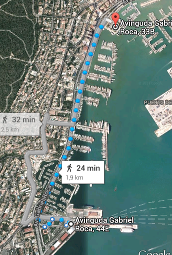 Waking distance from cruiseship port